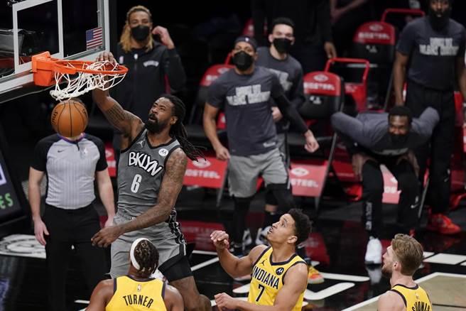 狄安卓喬丹目前已經跌出籃網輪替名單,連續4場都沒上場。(美聯社)