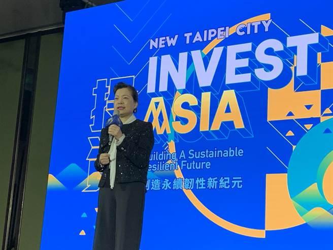 經濟部長王美花今出席「2021第四屆亞太社創新高峰會」開幕式。(許哲瑗攝)