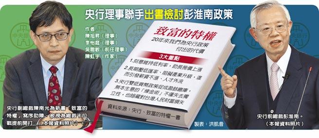 央行理事聯手出書檢討彭淮南政策
