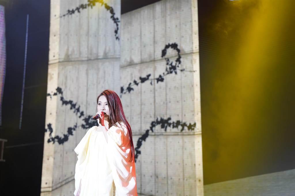 田馥甄昨天開唱吸引大批粉絲到場。(三立電視提供)
