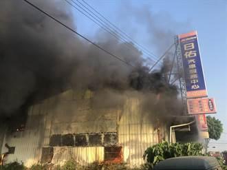 岡山汽車維修廠早晨火警 所幸無人受困、受傷