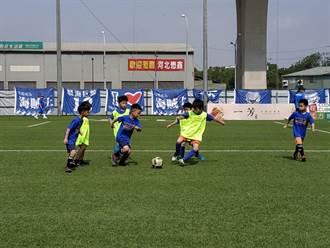 台中兒童足球節開踢 小小足球員競技滿場飛