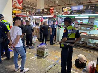 疑財務糾紛 台中建國市場攤位遭砸 蒜頭灑滿地