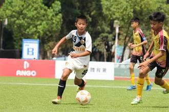 球員有如雙胞胎的默契 助隊全國少年盃足賽摘冠