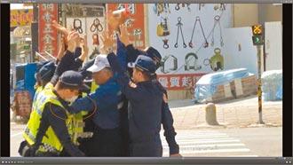 審判長驗37支攝影機影像還原真相 彰化地院痛批執法越界 分局長指示 陳抗者推擠 員警就跌倒