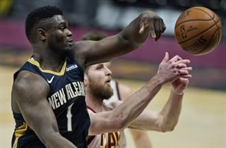 NBA》完全無解!錫安威廉森半場25分寫紀錄