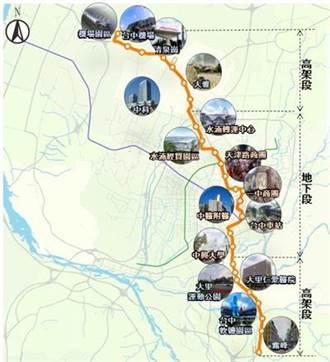 台中機捷可行性報告已送審 全長29.2公里26站