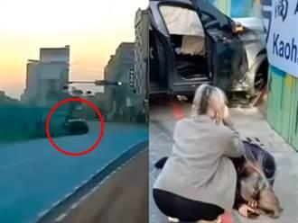 22歲富少酒駕載3嫩妹自撞工地 1女重傷倒地暴衝影片曝