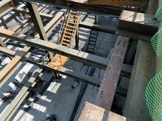 台南體3停車場傳工安意外 工人墜落約10米深地下樓層