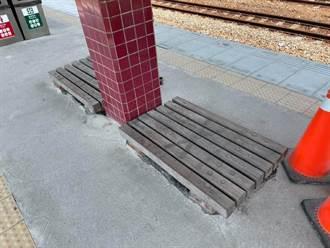 林內車站枕木座椅只有10公分高 台鐵這樣說