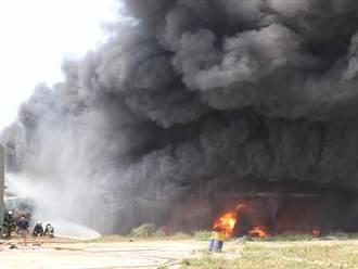 台中豐原油漆廠火警 1員工、1義消受傷