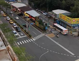基隆微笑台北社區前路口塞車有救了 初估年底增1車道