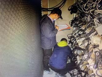 噪音熱氣遭鄰居檢舉 助龜山警偵破挖礦場