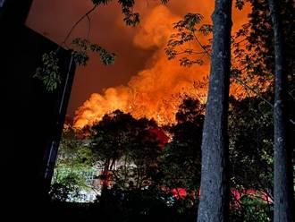 火烧山大火蔓延逼近街区 鱼池国中宣布13日紧急停课