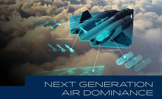 美國空軍報告中,下一代空優戰機的插圖,模樣相當獨特。(圖/美國空軍)