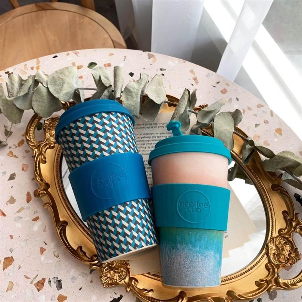 圖二:i+Deal Ecoffee Cup 16oz隨行杯,選用自然好分解的天然竹纖維、植物性黏合劑打造,650元。(Pinkoi提供)