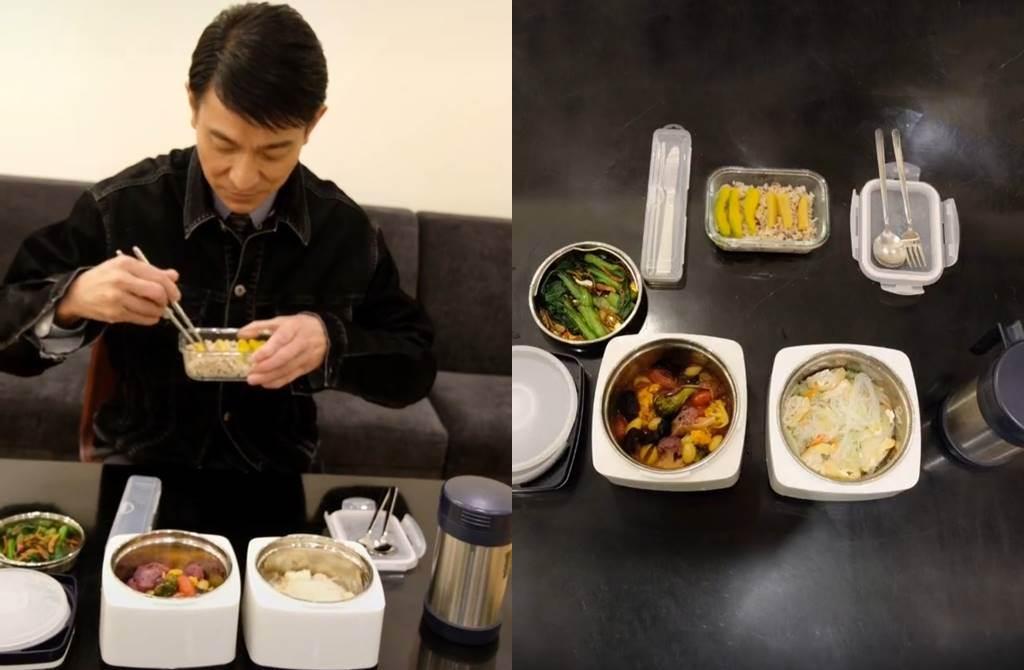 劉德華曝晚餐菜色。(圖/翻攝自微博)