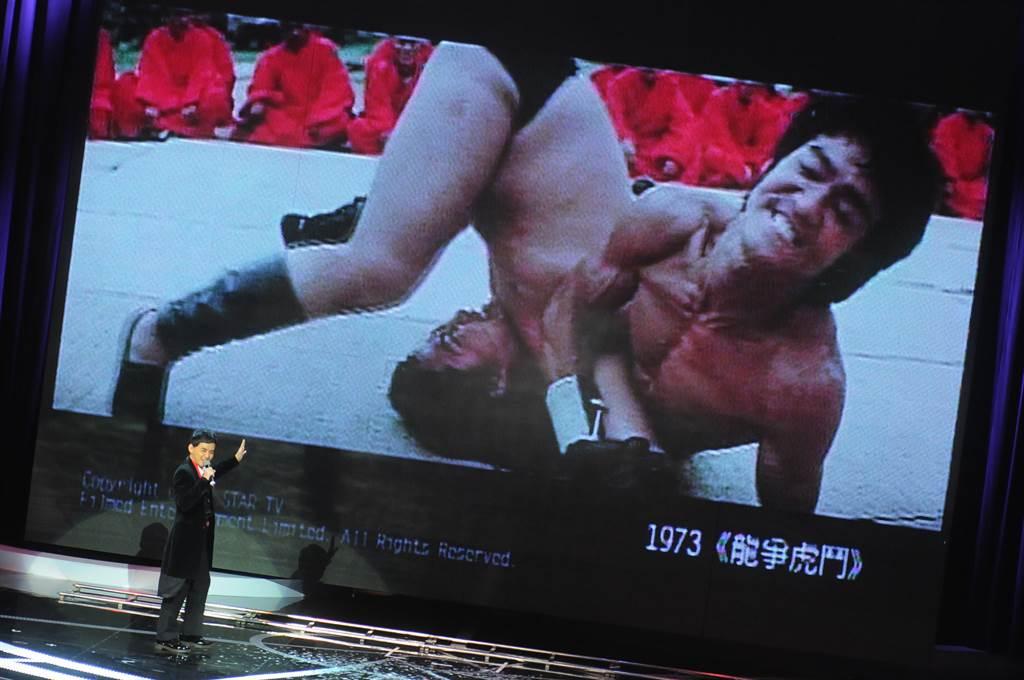 成龍與李小龍在《龍爭虎鬥》有激烈的打鬥戲。(圖/中時資料照)