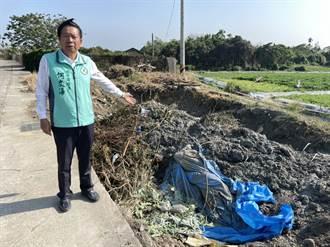 市議員批環中路旁違法廢棄物堆置 環保局:依法開罰要求儘速改善