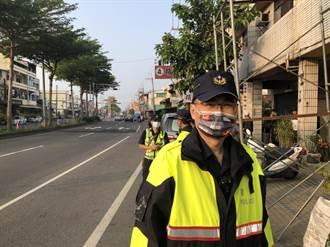 大甲媽警察動員護轎 暖心口罩商贈5000口罩助警防疫