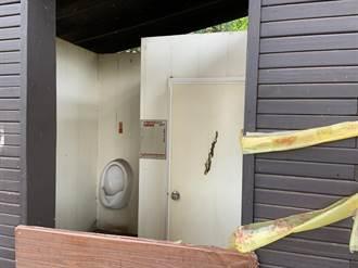沙鹿登山步道入口处厕所 封闭2年很落漆