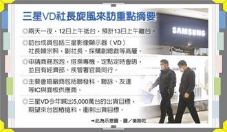 三星高層專機來台搶料 電視部門社長韓宗熙昨來台 快閃會見聯發科、聯詠、友達