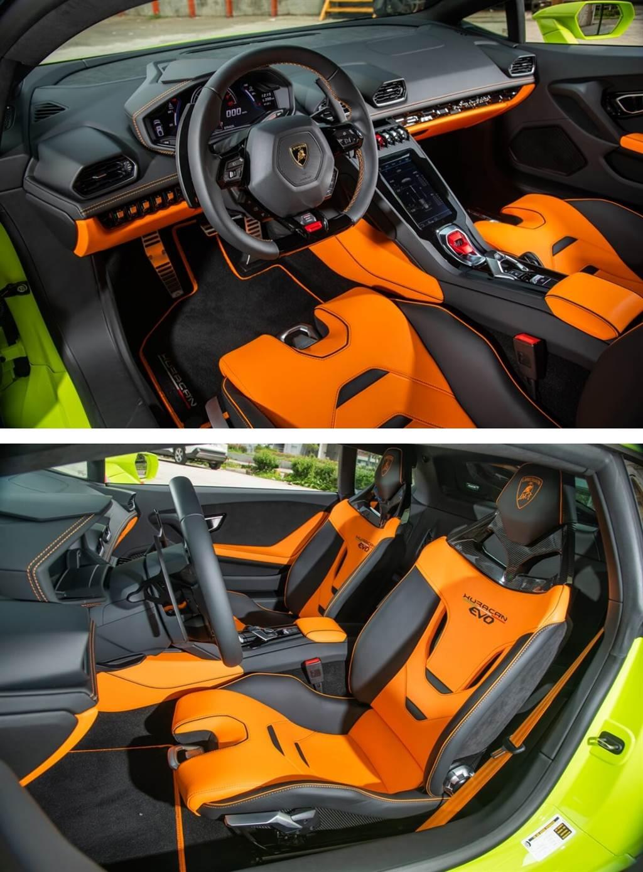 這次試駕的Huracán EVO特別選配了新款輕量化無電動可調的碳纖維賽車椅。這張座椅最初配置在Huracán EVO GT Celebration限量版中,其椅面有兩條簍空開孔偷輕輕量化。