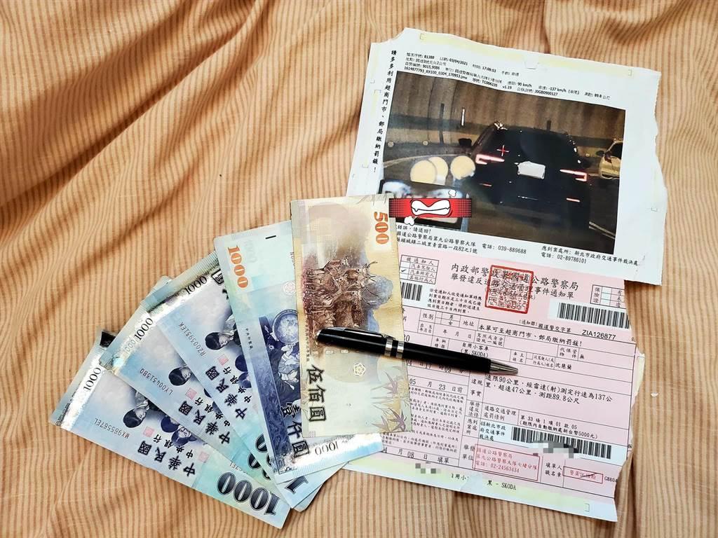 美女賽車手沈慧蘭收「國家級追焦照」,價值5000元。(照片來源:沈慧蘭-殺手蘭臉書)