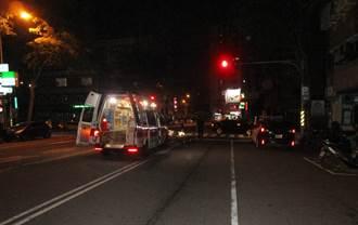 中市外送员深夜闯红灯直撞BMW 人喷飞机车全毁惨死