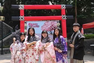 弘光科大樱花艺术季 搭鸟居穿和服吃体验偽出国