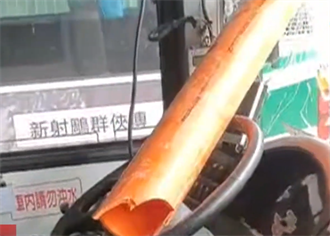 絕命終結站 巨粗水管突射入公車駕駛座 司機險遭爆頭
