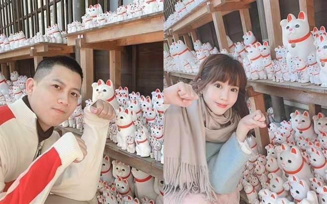 交往三年多的何孟遠與何紫妍,去年一月還一同去日本旅遊。(圖/翻攝自何孟遠、何紫妍臉書)