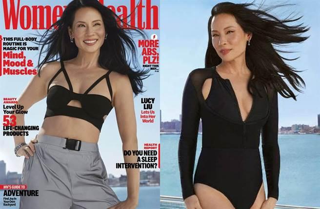 劉玉玲52歲仍維持好身材。(圖/翻攝自《Women's Health》)