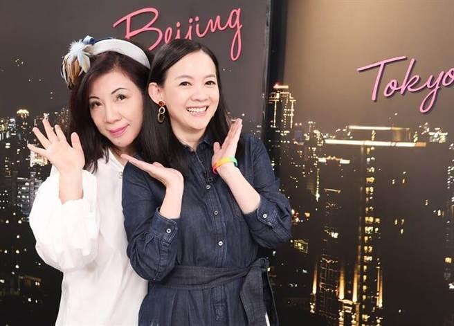 曾寶儀近日錄YahooTV《茜問》接受陳文茜訪問,被對方逼穿長裙跳大腿舞,讓她當場大喊想退通告。(中時提供)