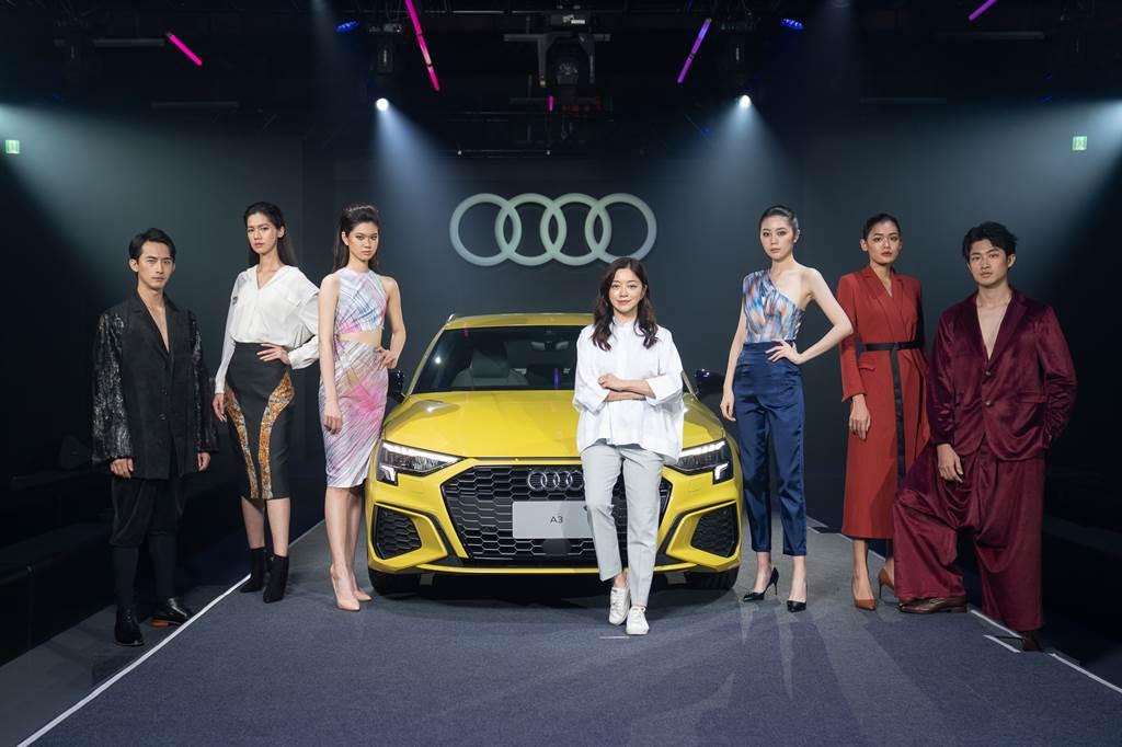 為凸顯A3年輕潮流的形象,台灣奧迪特別請來知名新銳設計師C Jean創意總監簡君嫄打造時尚秀。