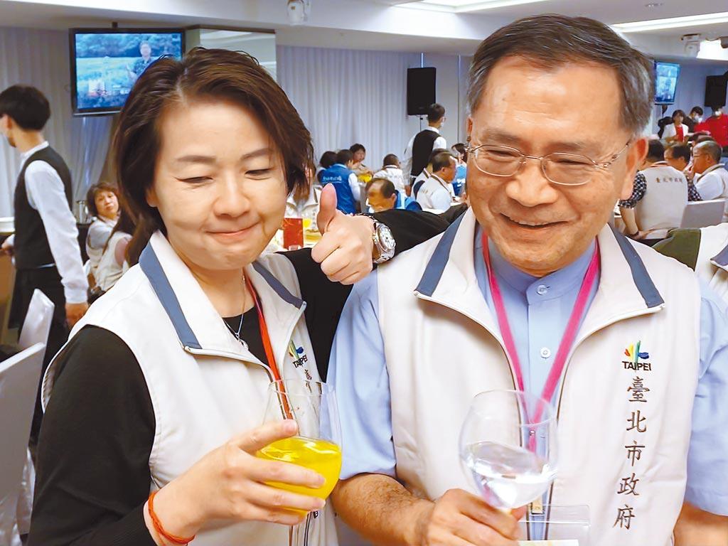 台北市2位副市長黃珊珊、蔡炳坤不合傳聞不斷,不只搶行程爭曝光,近日又跨局處督導惹議。(張薷攝)