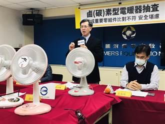 消基會、標檢局抽檢10件電暖器 3件零組件比對不符合規定