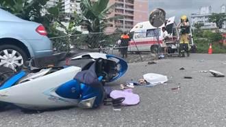男子騎車遭撞飛越過1.6米高圍籬 警消剪斷鐵絲網搶救