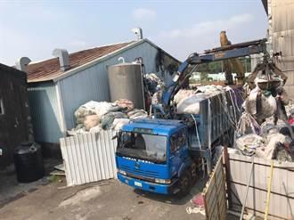 硬起來 嘉市非法廢棄物堆置場開始清運