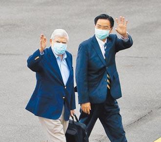 陶德訪台北 傳達美國跨黨派對台支持