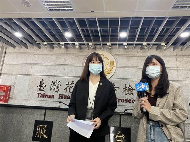 花蓮地檢署主任檢察官周芳怡今出來說明針對媒體批花檢偵辦速度的事宜。(羅億林社)