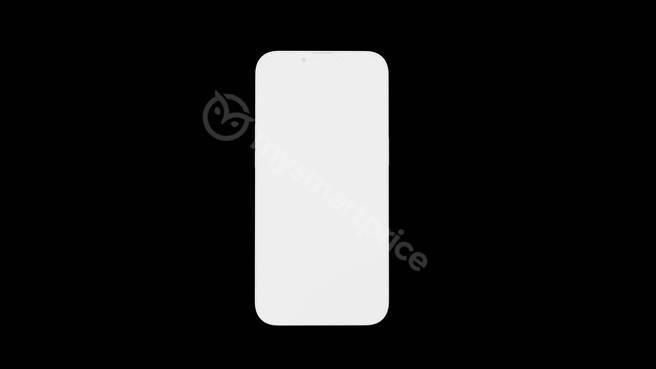 MySmartPrice網站曝光的iPhone 13渲染圖,此為正面螢幕樣式。(摘自MySmartPrice)