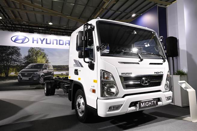 商業車博覽會今日開幕,連續三屆參展的HYUNDAI 現代商車帶來輕商車陣容展出。(南陽提供)