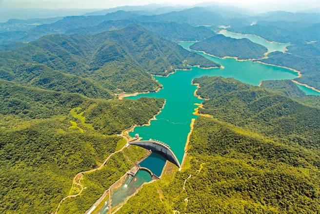 中南部鬧水荒,北部翡翠水庫在每日送水81萬噸的情況下,至今仍保有2.5億平方公尺蓄水量。(翡翠水庫管理局提供)