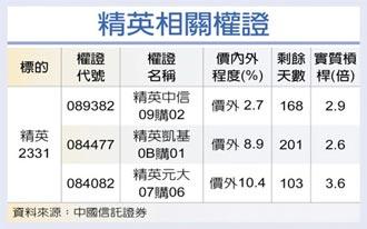 權證星光大道-中國信託證券 精英 二利多挹注獲利