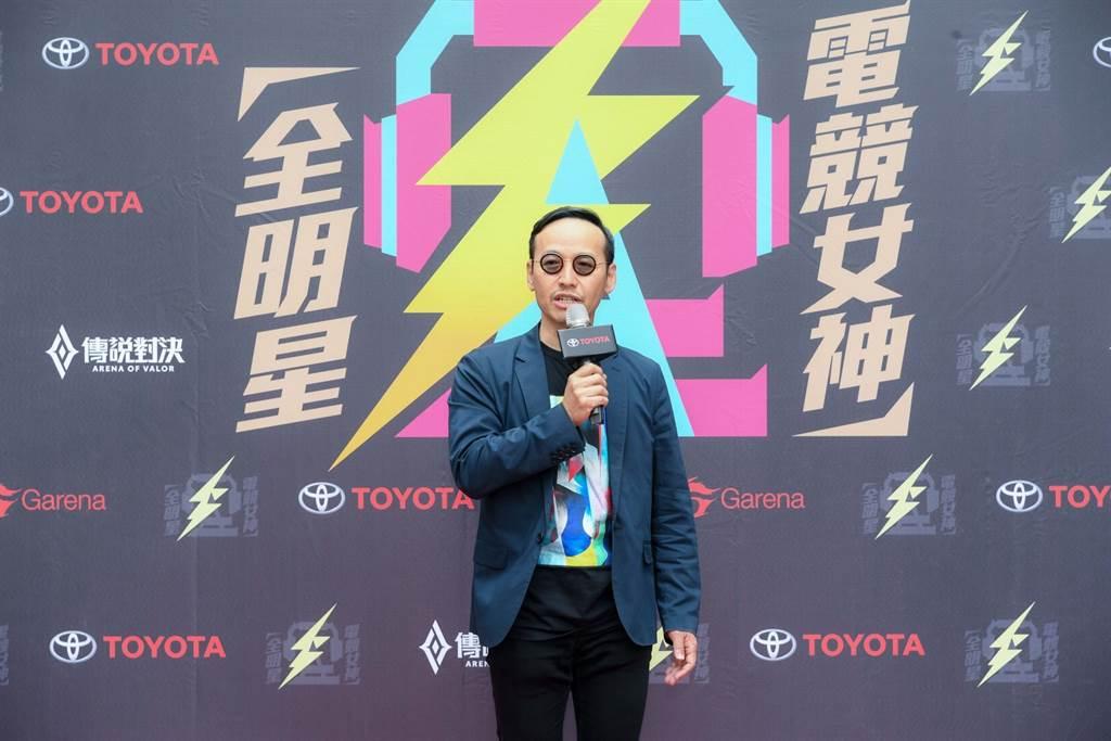 和泰汽車TOYOTA本部長劉傳宏表示TOYOTA自製的網路娛樂節目「TOYOTA TV」深受年輕人喜愛,期許透過本次跨界製播實境秀,鼓勵年輕朋友勇於挑戰、突破自我。