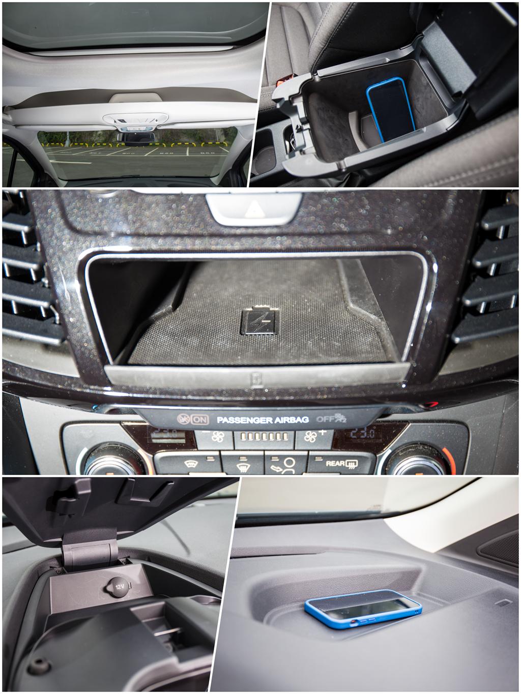 駕駛艙的收納機能萬善,頂規版甚至提供Qi無線充電。