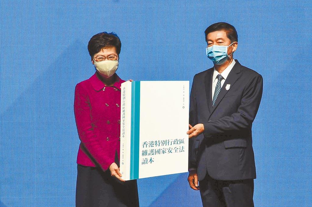 从北京当局观点来看,意图挑战中共一党专政、阻碍大陆成为强国的境外势力,是大陆国家安全的最大威胁。图为香港特区政府「全民国家安全教育日」的开幕仪式。(中新社)