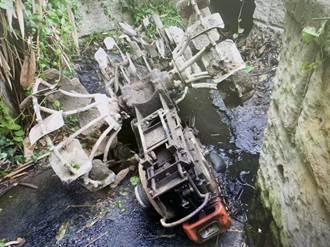駕駛耕耘機突翻覆水溝 農夫慘遭壓死