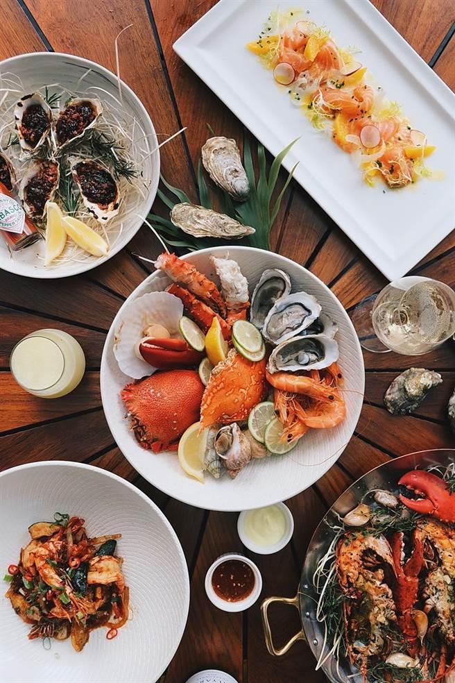 (台北W飯店週末晚餐「海鮮之夜」,標榜玩轉各式海鮮美味,打造「餐桌上的海底世界」。圖/台北W飯店提供)